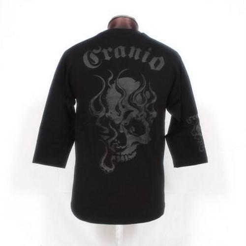CR-005 髑髏7分袖Tシャツ(GR)