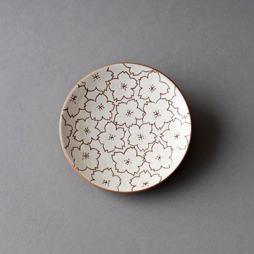 桜の絵柄 陶の銘々皿 | 東雲窯 佐野賢司