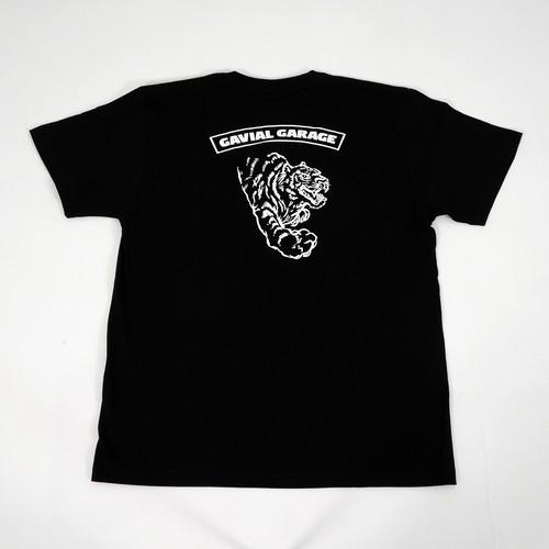 "GARAGE ""TIGER"" TEE (BLACK) / GAVIAL"