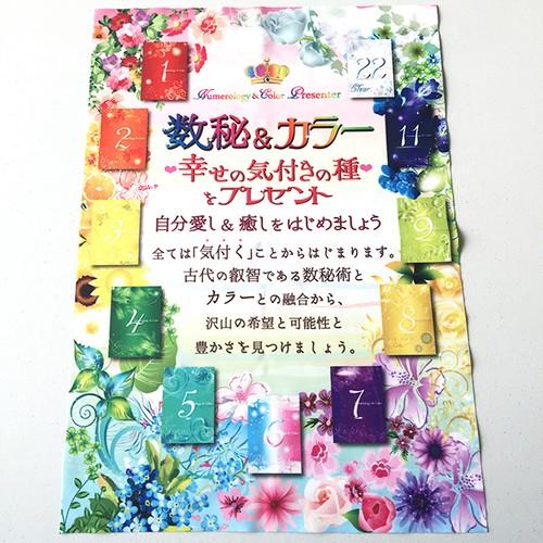 数秘&カラーA1サイズ布地ポスター