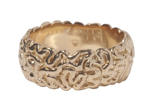 Brain-Ring(M)Gold-Coating