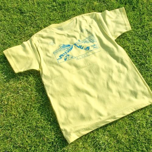 ONJUKU BEACH バックデザインTシャツ レモンイエロー