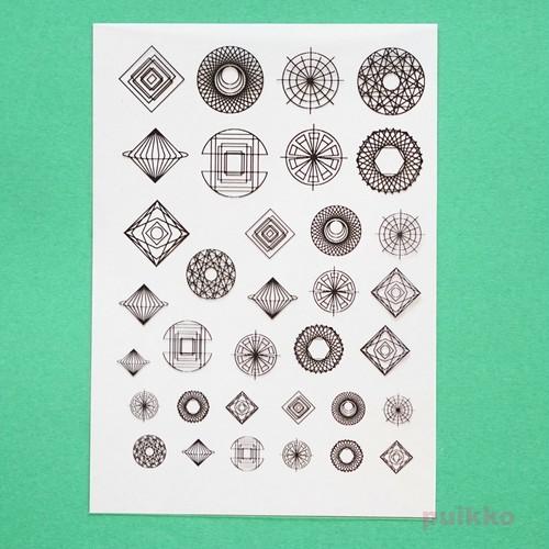 幾何学模様3 レジン封入用フィルム