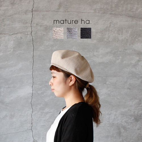 mature ha. beret top gather big silk (マチュアーハ ベレートップギャザービッグ シルク)