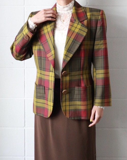 Yves Saint Laurent madras check jacket