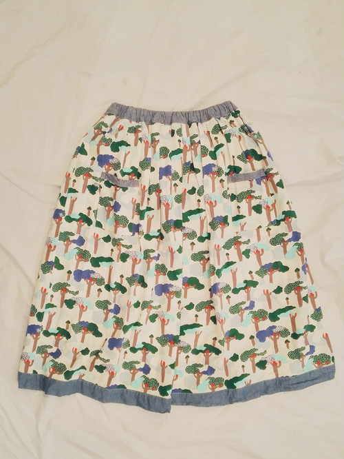 COTTON FLARE SKIRT 樹