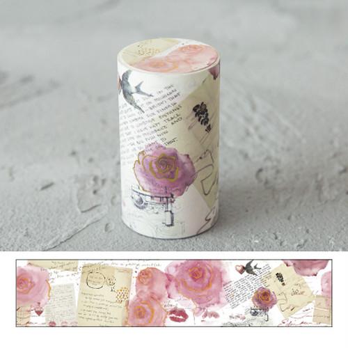 玫瑰人生 剥離紙・箔押し