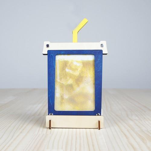 「ドリンク」木製写真立て(L判サイズ用)フォトフレーム インテリア