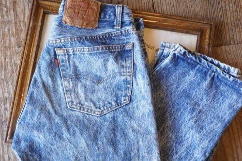 "80's Levi's 501 denim Pants ""chemical washed"""