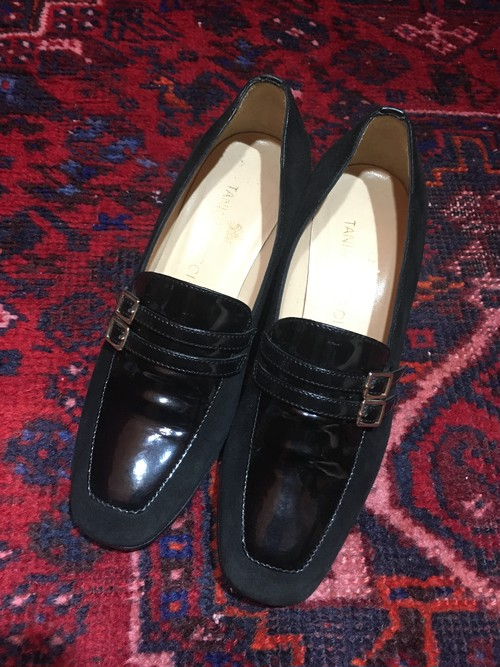 .TANINO CRISCI LEATHER STRAP PUMPS MADE IN ITALY/タニノクリスチーレザーストラップパンプス 2000000039343