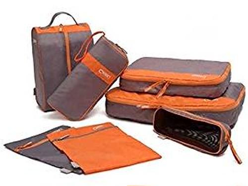 旅行 時 の スーツ ケース の中が スッキリ / トラベル 収納 7点 セット ( オレンジ ・ グレー )