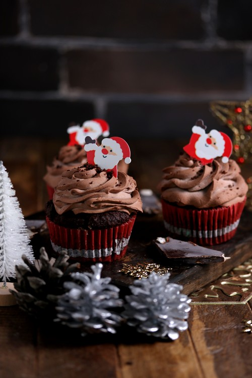 低糖質チョコレートカップケーキ(6個)Keto Chocolate Cupcakes (6 cupcakes)