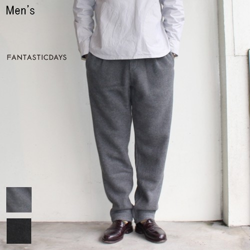 【20%OFF】FANTASTICDAYS  フリースイージーパンツ FLEECE-M-63-01 (GRAY) 【Men's】