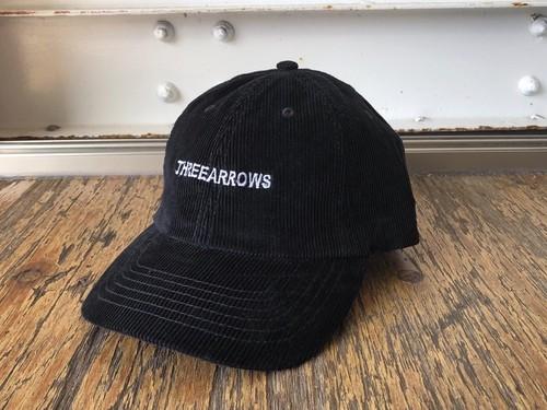 THREEARROWS刺繍コーディロイCAP(black)