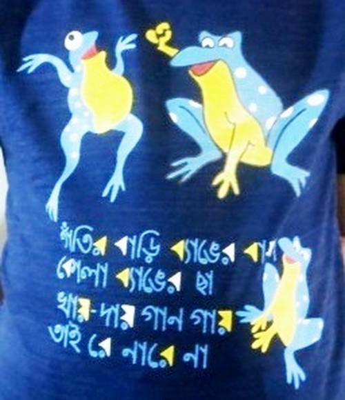 バングラデシュ 子供Tシャツ 2A カエル(男女兼用)