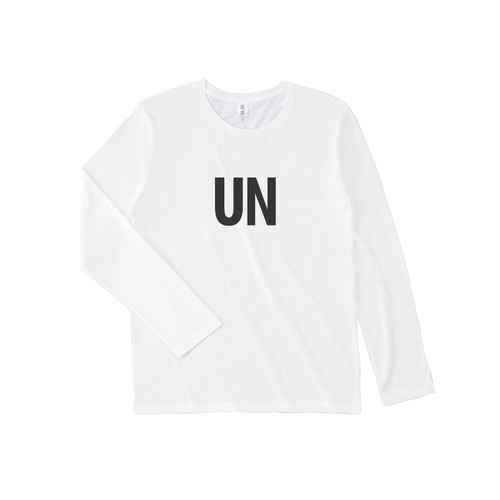UNFUDGE Longsleeve Tshirts / Printdesign : UN / Color : white