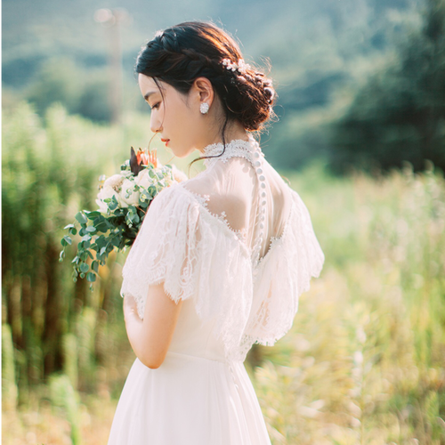 花嫁プロデュース☆ハイネックドレス