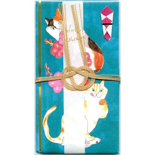 猫祝儀袋(梅ネコ)