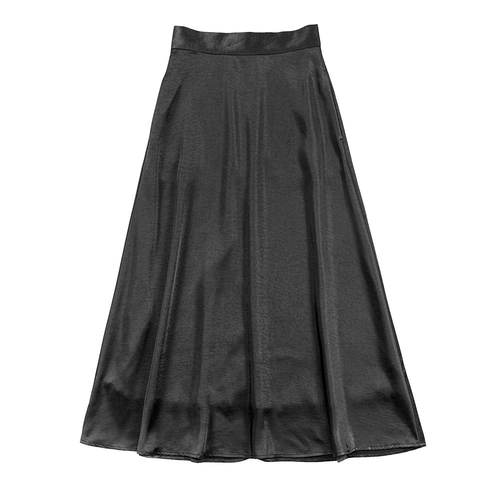 サテンロングスカート L00198