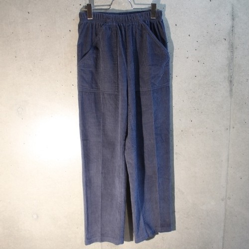Pale Tone Corduroy Easy Pants