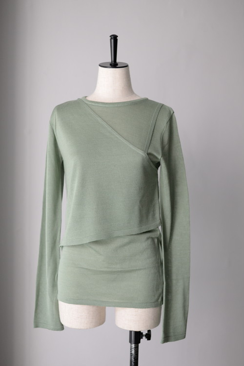 ROOM211 / Layered PO Knit (2color)