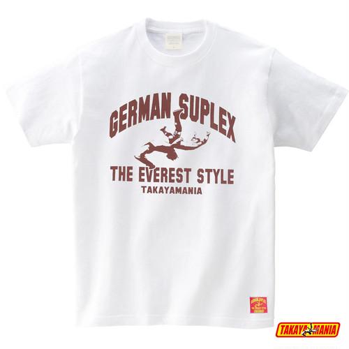 TAKAYAMANIA GERMAN Tシャツ ホワイトxバーガンディー / TM-GE2111