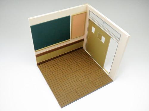 ねんどろいどプレイセット #01 スクールライフBセット 壁と床 (Bランク)