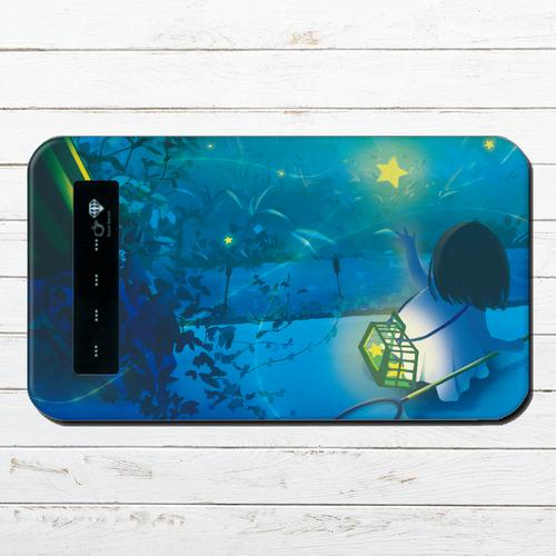 モバイルバッテリー 綺麗 おしゃれ かわいい ファンタジー iphone スマホ 充電器 タイトル:星蛍 作:アスマル