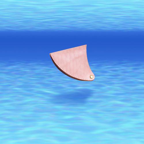 Leather fin coin purse レザーフィンコインケース【Ocean】サーフィンのサーフボード・フィン型小銭入れ