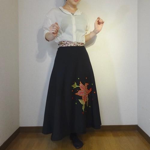 ebwb-003 刺繍コットン・サリー 巻きスカート