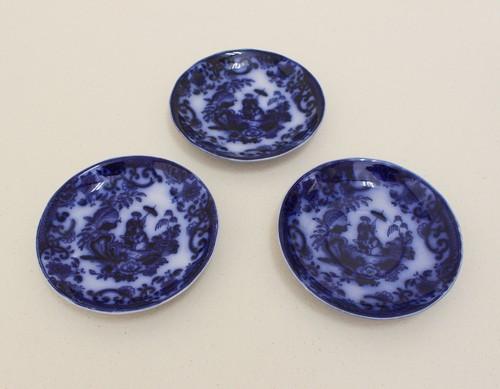 オランダ焼皿3枚セット/阿蘭陀焼