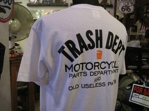 TRASH DEPT オリジナルTシャツ タイプBホワイト