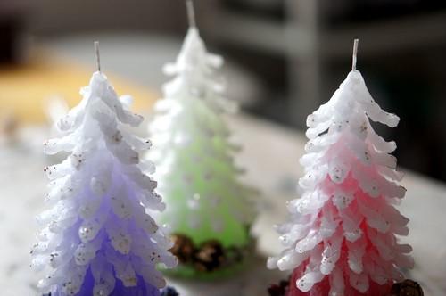 【限定】X'mas tree candle クリスマスツリーキャンドル2018 赤 (送料無料でお届け)