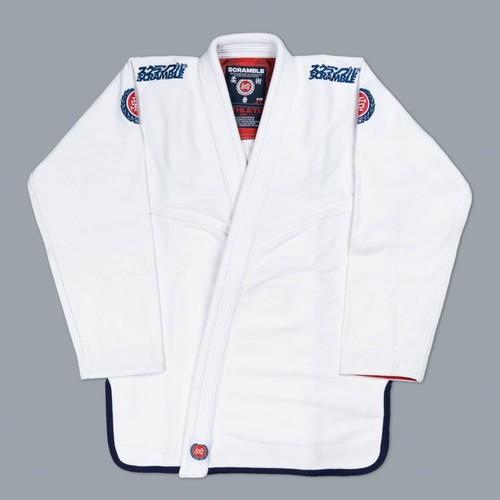 予約注文受付中です!!! SCRAMBLE ATHLETE PRO ホワイト ブラジリアン柔術衣