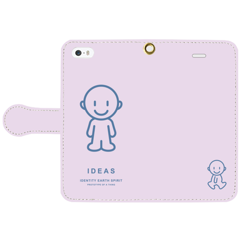 IDEAS/iPhone5/5s/SE手帳型ケース 803-ピンク