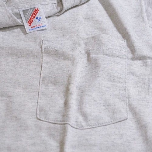 Deadstock★ 90's JERZEES ポケTEE(ASH GRAY)M
