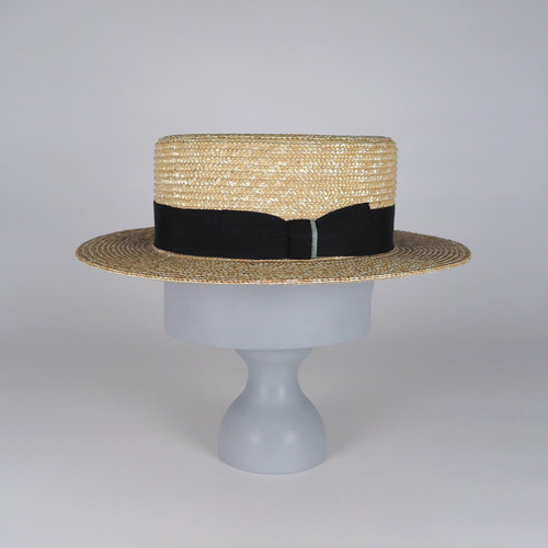 SS21-BD-10 Straw Boater - NAT/BLK/MGR