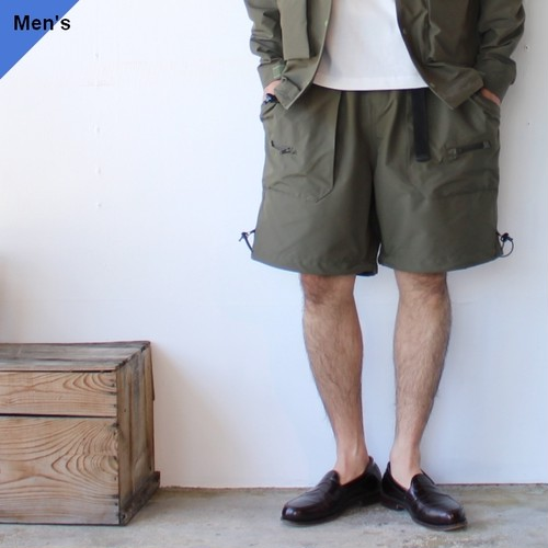 Mountain Smith リサイクルストレッチナイロンショーツ Olive