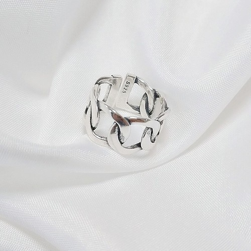 silver925 Chain wide ring[送料無料]
