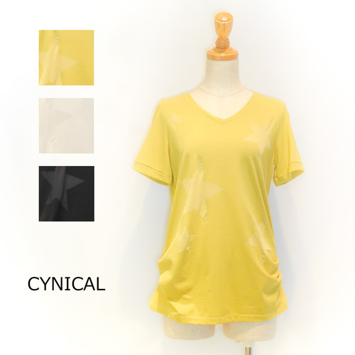 ☆SALE☆[CYNICAL] 星柄ギャザーTシャツ