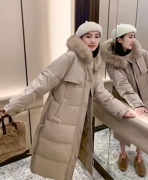 ロングコート アウター レディース シンプル 秋 冬 大きいサイズ きれいめ ファーフード  ベルト付き 中綿ダウンコート
