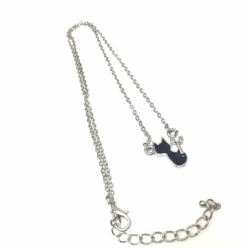 152 可愛い 黒猫ネックレス ペンダント