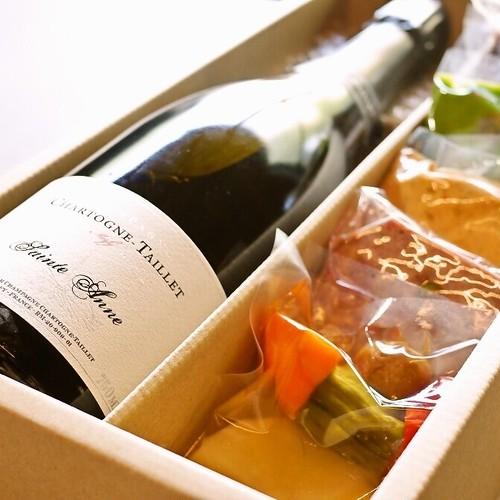 【送料無料】ソムリエ厳選シャンパンと人気の前菜セットBOX(フレンチ惣菜 テリーヌ ワイン)【冷蔵便】の商品画像2
