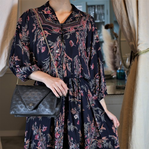 USA VINTAGE FLOWER PATTERNED ONE PIECE/アメリカ古着花柄ワンピース