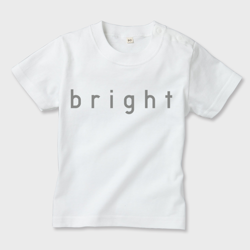 KIDS T-SHIRTS 「bright」 white or navy