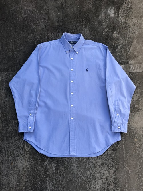 USED / Polo Ralph Lauren over size shirts -blue-