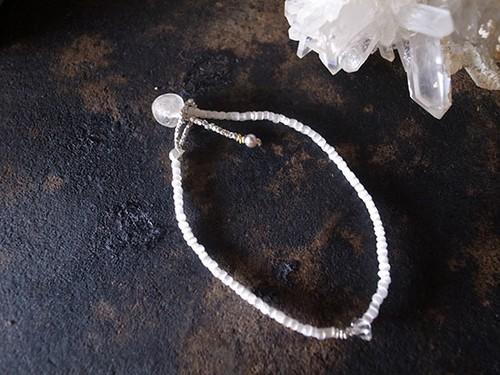 muule / ハーキマーダイヤモンド + アンティークシードビーズのブレスレット CJML-BL-003