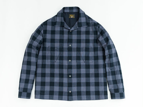 JET BLACK CHECK SHIRTS (GRAY) / GERUGA