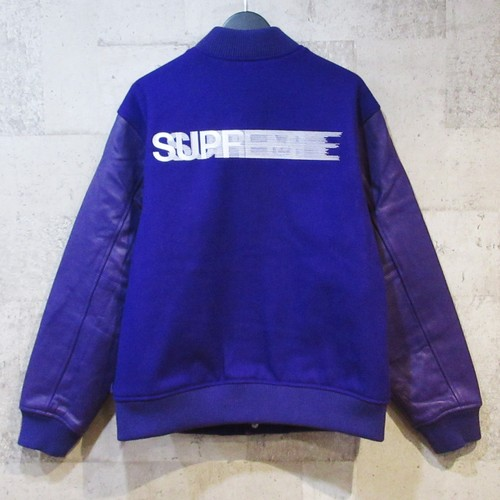 SUPREME 18AW Motion Logo Varsity Jacket