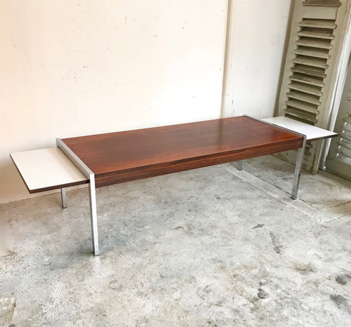 Vintage Rosewood Coffee Table with Extra Leaves オランダ 1970's